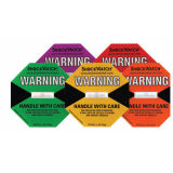 Worldwide Logistics Shock Indicator Sticker Self Adhesive Shipping Labels