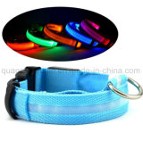 OEM Polyester Rechargeable Flash Pet Dog LED Collar