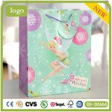 Paper Bag, Christmas Cute Girl Paper Bag, Gift Paper Bag