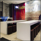 Long Restaurant Corian Artificial Stone Solid Surface Table Furniture