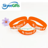 Pop Debossed Color Filled in Silicone Wristband with Your Logo