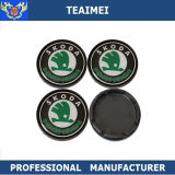55mm Car Logo ABS Plastic Black Car Wheel Center Cap For Skoda