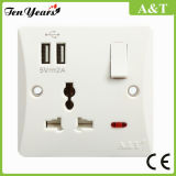 13A Socket Outlet with USB Port