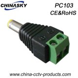 Male CCTV DC Power Jack with Screw Terminal (PC103)