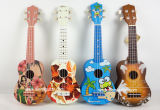 Aiersi Toy Hawaii Style Pattern Colour Children Ukulele