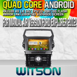 Witson S160 for Manual Air Version Explorer 2012 Car DVD GPS Player with Rk3188 Quad Core HD 1024X600 Screen 16GB Flash 1080P WiFi 3G Front DVR (W2-M254)