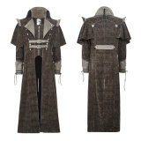 Y-654 Punk Clothing Cool Killer Men Long Coat with Cape