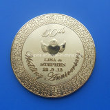 Wedding Souvenir Gifts Metal Cup Coaster with Engraving