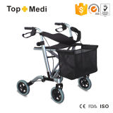 New Design Disabled Shopping Series Aluminum Lightweight Foldable Rollator Walker