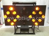 Outdoor Solar Powered Truck Mounted LED Flashing Warning Arrow Light
