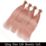 Lili Beauty Solid Pink Ombre Brazilian Straight Human Hair Weave Bundles