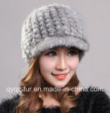 Women's Thick and Warm Knitted Mink Fur Hat