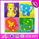 2015 Intellectual Game Wooden Jigsaw Puzzle, Cheapest Wooden Puzzle Game Toy, Educational Puzzle Game for Kindergarten Toy W14m058