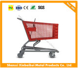 Factory Diredct Wholesale Plastic Supermarket Shopping Trolley Cart with Superior Quality