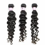 9A 100% Deep Wave Virgin Indian Human Hair Extensions