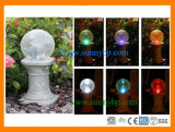 Solar Push Light Crystal Ball Garden Lamp (SBP-FL-008)
