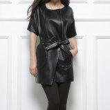 Womens Ladies Genuine Sheep Leather Jacket Sleeveless