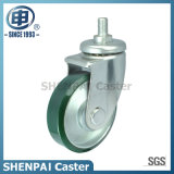 Brake Steel Core PU Threaded Stem Swivel Castor Wheel
