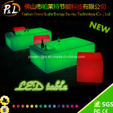 Rechargeable Lithium Battery Bar Furniture LED Square Table