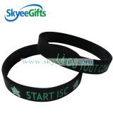 Custome Black Color Silicone Bracelets
