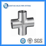 Stainless Steel Sanitary Cross with Welding Ends