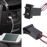 New Dual 5V 2.1A USB Ports Charger for Toyota Car