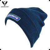 Acrylic Custom Logo Embroidery Beanie with Cuff