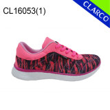 Fashion PU Leather Women Sports Running and Walking Shoes