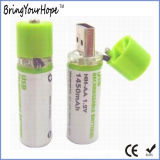 1.2V 1450mAh USB Rechargeable AA Battery (XH-PB-209)