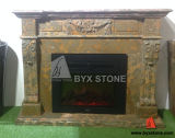 Natural Marble Stone Carved Fireplace for Indoor Decoration