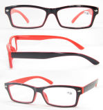 Unisex Style Plastic Reading Glasses with Metal Decoration