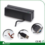 Msr100 Portable USB Msr Card Reader, 3 Tracks USB Magnetic Card Reader for POS System