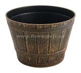 Round Plastic Barrel Planter (KD3821S-KD3826S)