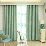 Modern Clean Style Embroidery Blackout Window Curtain (09F0042)