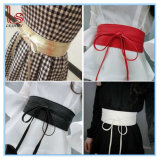 Synthetic Leather Tie Wrap Around Bowknot Waist Wide Dress Belt