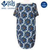 Fashion Ladies Plant Print Dress