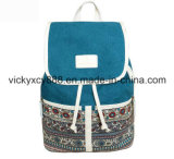 Multifunctional Lady Double Shoulder Canvas Leisure Student Travel Backpack (CY5883)