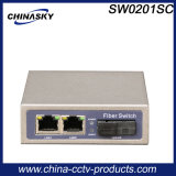 2 RJ45 Poe Network Switch with Optical Fiber Port (SW0201SC)