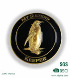 Metal 3D Penguin Logo Souvenir Coin for Animal Protection Accociation