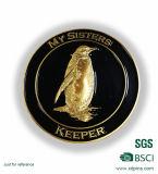 Metal 3D Penguin Logo Souvenir Coin for Animal Protection Accociation