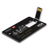 Plastic Business Credit Card USB Stick 16GB Full Color Printing