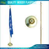 245cm Adjustable Telescopic Aluminum Indoor Floor Golden Silver Flagpole Stand (J-NF21M03001)