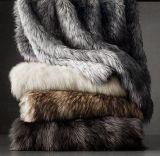 China High Quality 100%Polyeser Luxury Faux Fur Throw Plaid Raschel Blanket