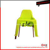 Plastic Armless Chair Mould with Metal Leg