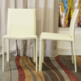 Stylish Graceful Artificial White Dining Chair in Restaurant (SP-LC218)