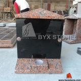 Maple Red Granite Cemetery Columbarium / Mausoleum