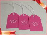 Nice Pink Paper Printing Hang Tags Garment Clothing Tags