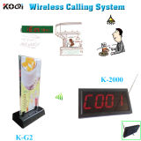 CE Approved 433.92MHz Table Buzzer Call System for Restaurant