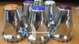 33mm Truck Chrome ABS Lug Nut Covers with Colored Reflectors