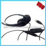 Binaural Durable Telephone Headset with USB Connector (VB-1002NC-USB)